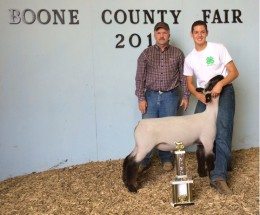 14-Grand Champion Market Lamb-Boone County Fair-Calvin Stewart