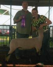 Abigail Critchelow- Champion Market Lamb Hancock Co. IL Fair