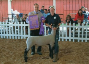 Cailee Rendlesham- Champion Market Lamb- Geauga Co OH Fair