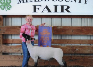 Emily Jean Myers- Reserve Champion Market Lamb- Meade County KY Fair