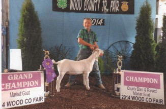 Hunter Browne- Champion Goat- Wood Co. OH Fair