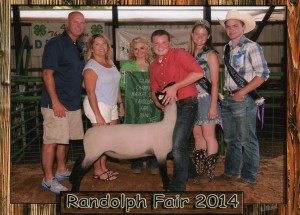 Hunter Horning- Champion Market Lamb – Portage Co. OH Fair