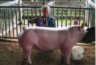 Jenna Flood- Champion Barrow- Cumberland County IL Fair