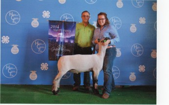 Sarah Hunker- Champion Market Lamb- Huron Co OH Fair