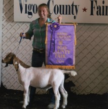 Sarah Wynick- Champion Goat – Vigo Co IN Fair
