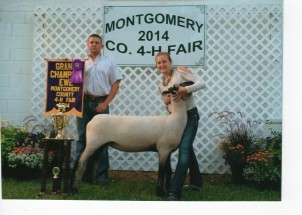 Tori Warren- Champion Ewe- Montgomery Co IN Fair