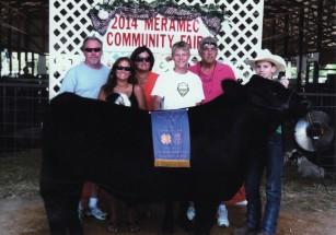 Wyatt Schmidt- Champion Market Steer- Meramec Co MO Fair