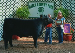 Zane White- Champion Steer- OOwen County IN Fair