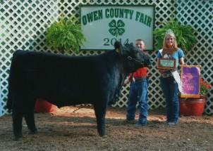 Zane White- Champion Steer- OOwen County IN Fair