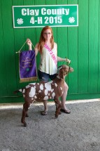 Kourtney Johnson Grand Champion Market Goat Clay County